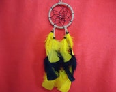 Gold and Black Dream Catcher  Native American Made