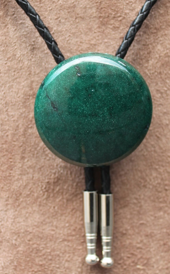 Naked Mountain Jade Red Bolo Tie