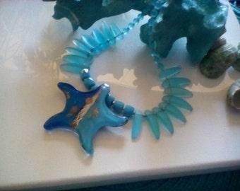 Starfish statement necklace.