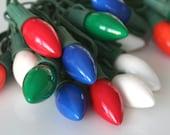 Vintage Multicolored C4 Christmas Lights, Three Strands