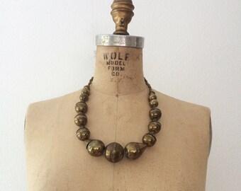 brass necklace / statement necklace / Encontada necklace