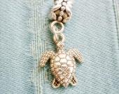 Sea Turtle silver dangle European style Bead Charm-Sea Turtle Add a Charm