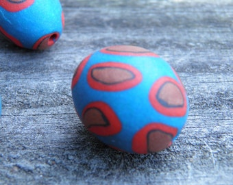 Four Assorted Polymer Clay Beads (Handmade) (One of a Kind)