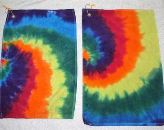 Golf Towels, tie dyed, 100% cotton. GT21, 22.