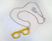 Sassy Glasses Necklace - Charm Necklace - Retro Kitsch