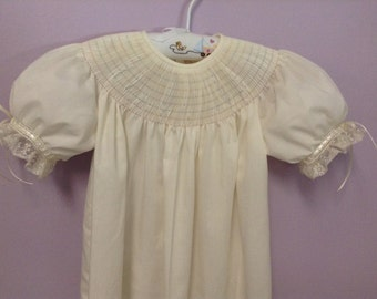 Ready to Smock Made to Order size 2 or 3 Batiste bishop French Handsewn sleeves