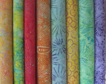 Tahiti Tonga Batik Half Yard Fabric Bundle
