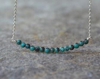 Dainty Turquoise Bar Necklace Tiny Turquoise Bar Necklace