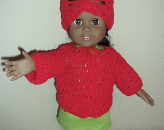 """American Girl Sweater and Hat..18"""" Doll"""