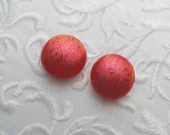 Dichroic Earrings - Stud Earrings - Post Earrings - Fused Glass - Glass Earrings - Small Post - Red Earrings X1684
