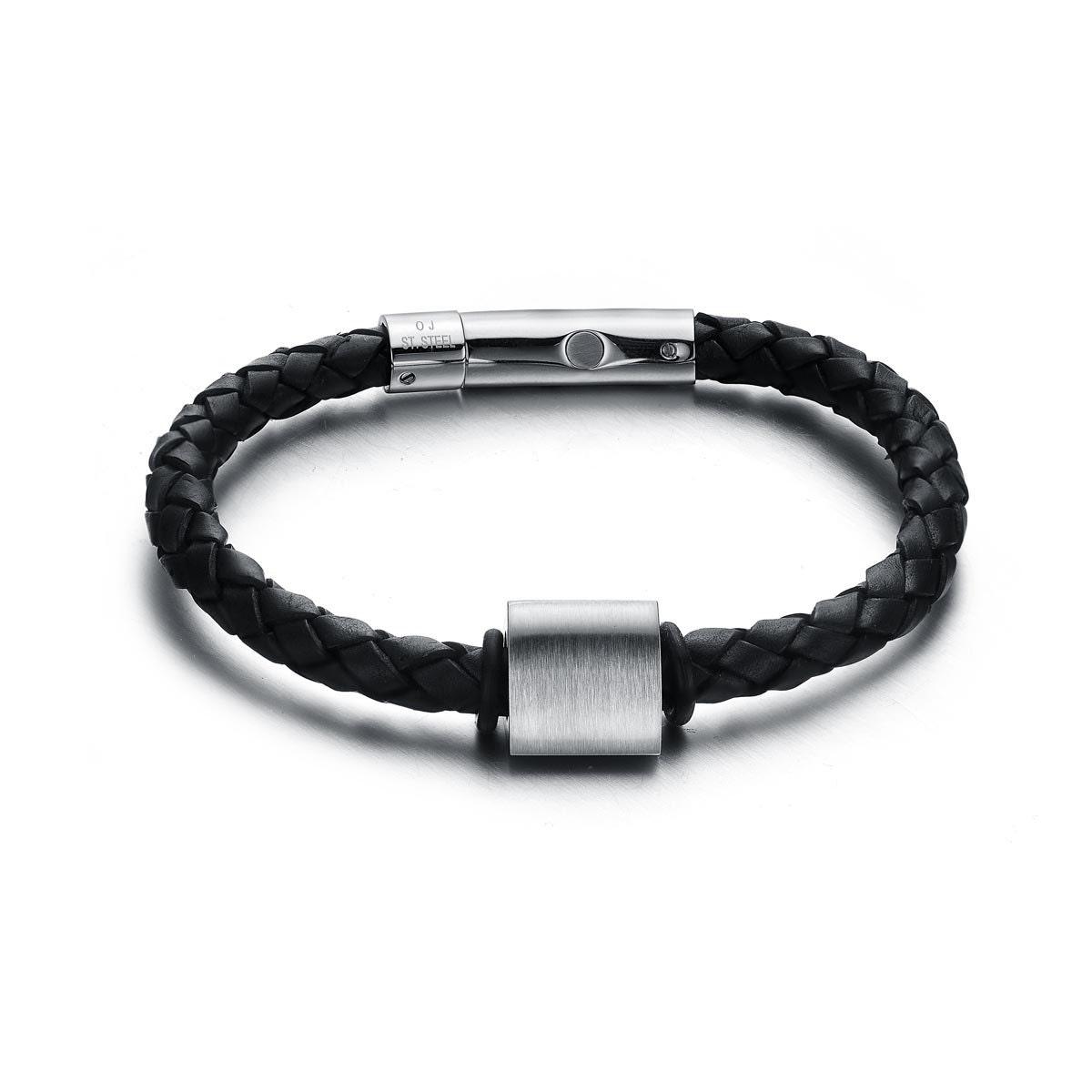 Summer Sales Magnetic Bracelets for Men Black Leather