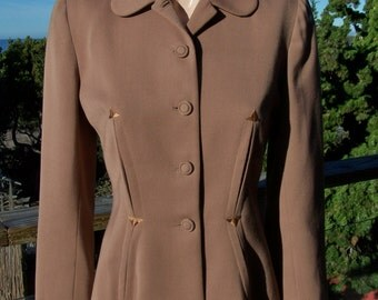 Blazer Jacket Brown 40s style custom size M