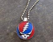 Grateful Dead Necklace - Under 10-  Photo Necklace - GratefulDead Necklace - Music Hippie  Necklace-Deadheads