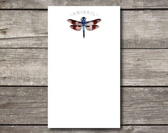 Personalized Dragonfly Notepad Teacher or Hostess Gift 3.4 x 5.75