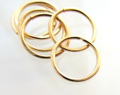 6 Small Gold Hoop Earrings Free Shipping, Ear Lobe Helix Cartilage, 6 Gold filled Hoops