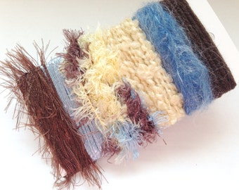 BEACH HOUSE Specialty Yarn Fiber Embellishment Bundle - Altered Arts, Jewelry, etc - 5 or more bundles for 10% discount