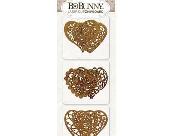 Hearts Laser Cut Chipboard - BoBunny