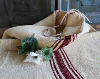 C 712 + 713:  Grain Sack antique AUBERGINE pillow benchcushion 47.24 long wedding decoration