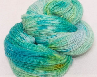 Hand dyed yarn, lace weight yarn, Angora Merino lambswool yarn, 100g skein,  knitting, crochet, colour;Minervois