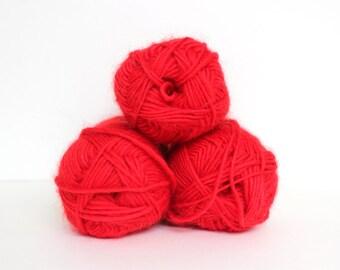 Lot of Peruvian Wool Yarn - Red Heart Stitch Nation by Debbie Stoller in Poppy