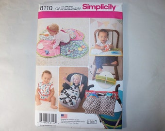 New Simplicity Baby Accessories Pattern, 8110  (Free US Shipping)
