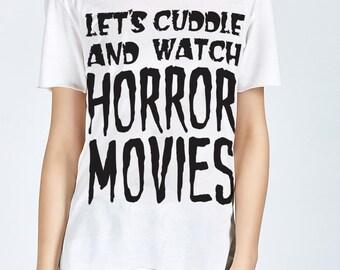 Halloween Shirt - Halloween T Shirt- Horror Shirt- Horror Movie T Shirt- Movie Shirt- Womens Graphic Tee- Women's Shirt- Shirts With Sayings