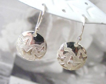 Fine Silver Butterfly Earrings