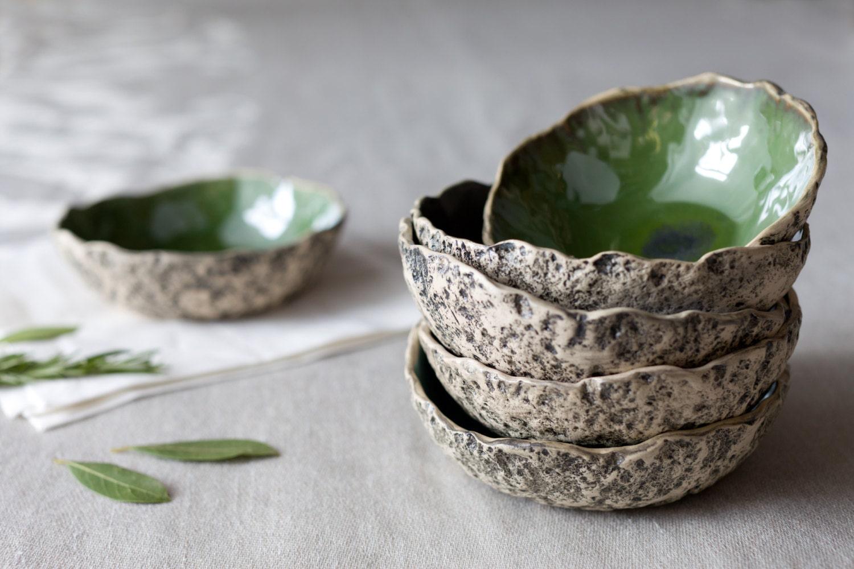 4 Soup Bowl Set Handmade Ceramic Soup Bowl Stoneware Bowl