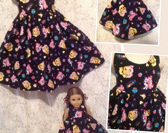 CUSTOM SIZES * My Little Pony * Matching dress child 2 3 4 5 6 7 8 9 10 12 14 & American Girl Doll Bitty Baby My Twinn - sewnbyrachel