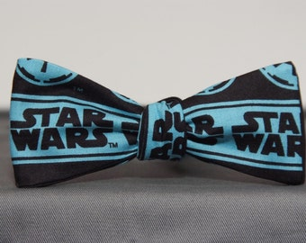 Star Wars on Light Blue  Bow tie