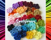 WholeSale Crochet Mini Flowers 100 pieces Cotton Yarn