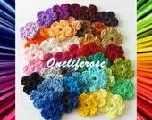 Crochet Mini Flowers 10 pieces Cotton Yarn