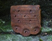 Reserved for Sue. Artisan made ceramic pendant - Rusty patina - Large -SALE