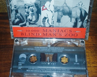 10,000  Maniacs Blind Man's Zoo Vintage Cassette Tape