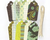 Clearance Sale / Assorted Large Scallop Die Cut Gift Hang Tags (Set of 12) (C17)