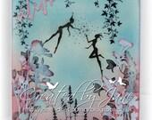 Garden fairy - gorgeous Fairy handmade greetings card