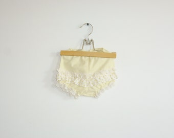 Vintage Yellow Ruffle Diaper Cover