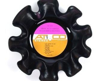 Iron Butterfly Record Album Bowl Vintage Vinyl LP Rare 1968 (In-A-Gadda-Da-Vida) Pink and Orange Label