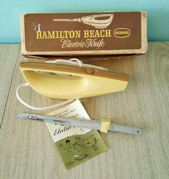 Vintage Electric Knife Hamilton Beach Scovill Harvest Gold