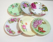 Mix And Match Saucers, Tea Party, Wall Decor, China Saucers, Collection Of Six