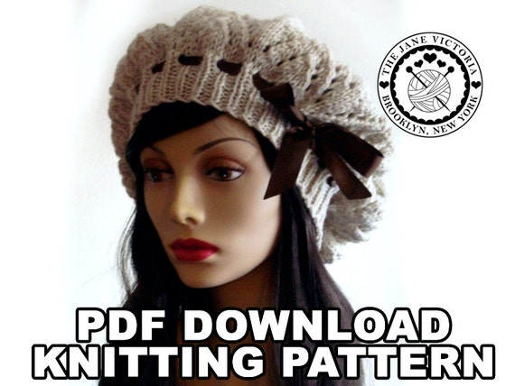 Tam Knitting PATTERN, Elemmire Lamhainn, PDF DOWNLOAD