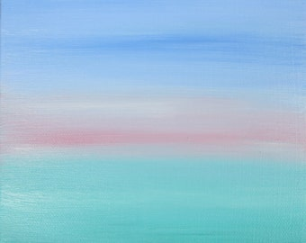 Echo & Song abstract oil painting seascape ocean by artist Jean Macaluso
