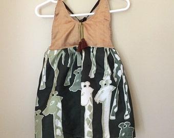 Silk Safari Tunic size 2-3T