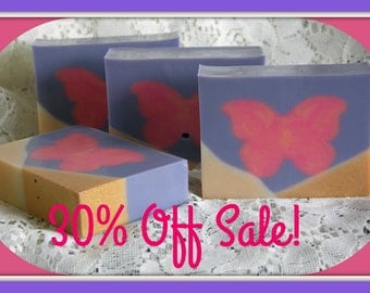HANDMADE SoAP SALE * Limited Edition Butterfly Soap * 30% Off Discount * Unique Style & Design * Home Decor Gift * USA Made Bath Soap Bars