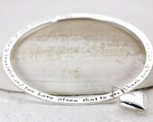 Whisper Bangle | Personalized Hand Stamped Custom Bracelet | Sterling Silver Family Names Quotes | Handmade Jewelry |  Christina Guenther