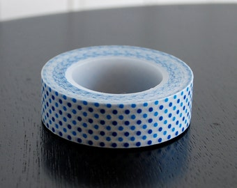 Washi Tape - Blue Dots - 15mm (1 roll)