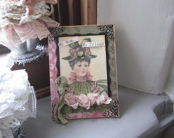 Handmade Birthday Card Mom - Victorian Lady Card - Victorian Mom Card