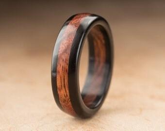 Size 11 - Ebony Poisonwood Ring - 7mm