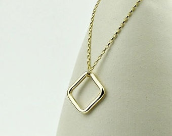 Solid 9ct Gold Necklace - Squares - solid gold necklace - simple gold necklace - 9ct gold necklace - 18ct gold necklace -carat gold necklace