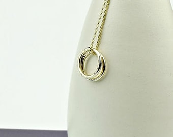 Solid Gold Necklace -Circle Of Life-simple gold necklac-solid gold necklace-karma necklace-gold karma necklace-gold circle-9ct gold-uk